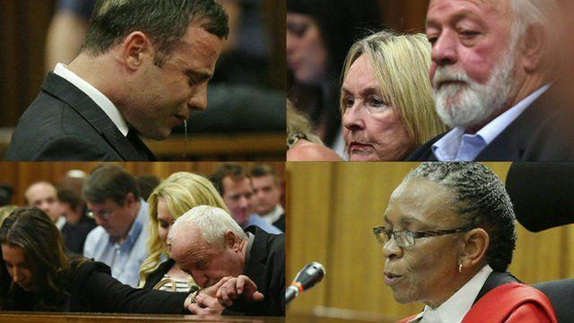 Selection of Oscar Pistorius trial photos