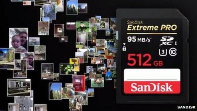 SanDisk SD memory card 'largest ever'