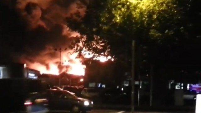 Fire in Nottingham University