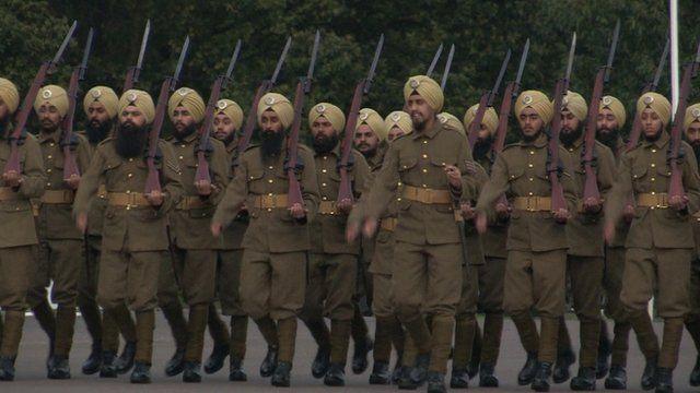 Sikhs in WW1 uniform