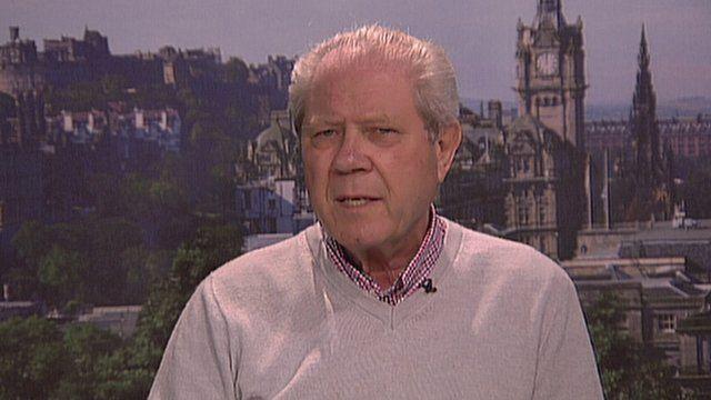 The former SNP deputy leader Jim Sillars
