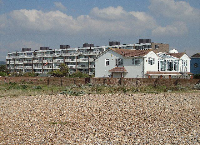 Flats on the beach front at Shoreham by Sea