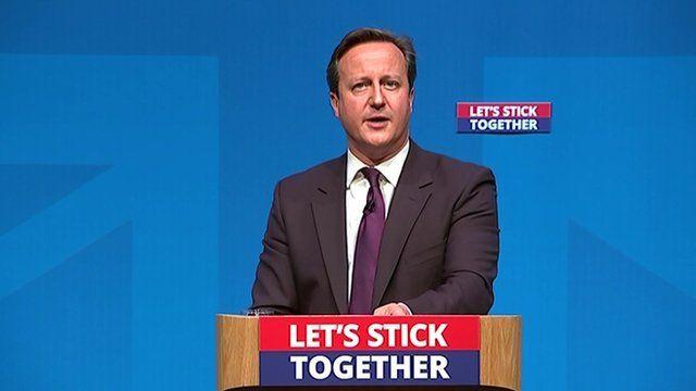 David Cameron makes speech in Aberdeen