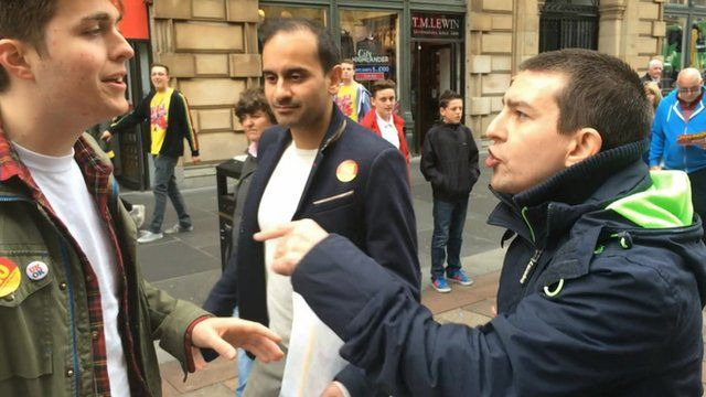 Debate on the streets of Glasgow