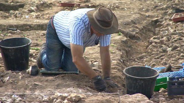 Volunteer archaeologist