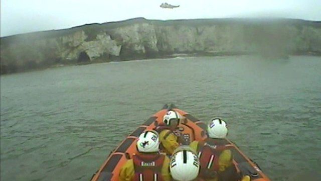 RNLI lifeboat off East Yorkshire coast