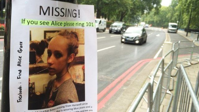 A missing persons flyer