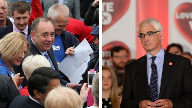 Both sides of the independence campaign continue to push for votes across the country