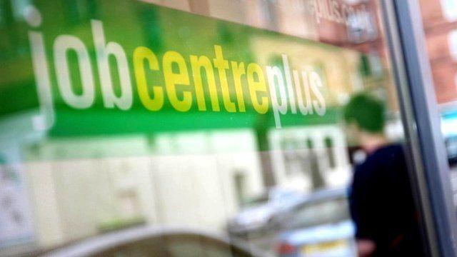 Job Centre Plus sign in window
