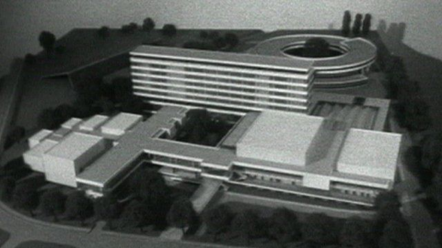 A model of the plans for Pebble Mill