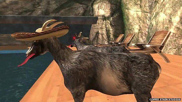 A screenshot from Goat Simulator