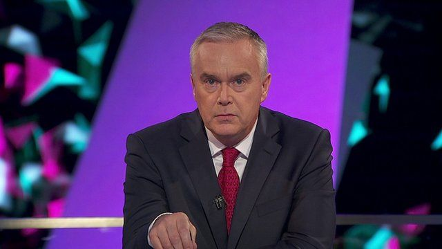 The BBC's Huw Edwards announcing the BBC's forecast