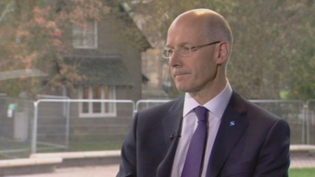 John Swinney said the pro-independence camp fought an excellent campaign.