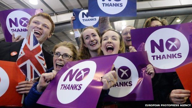 Better Together campaigners celebrate
