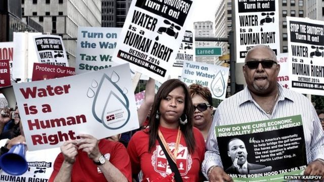 Detroit cuts off water for families - and hopes for future