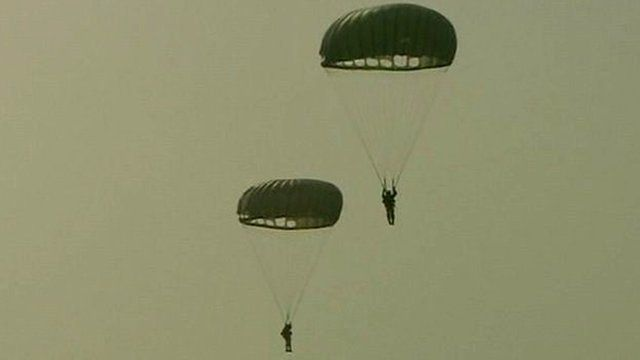 Parachute jump in the Netherlands