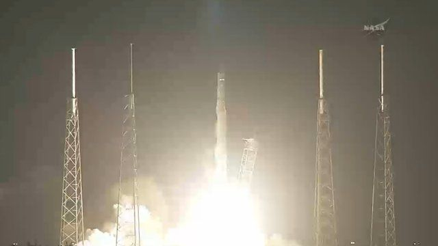 SpaceX cargo ship lifts off