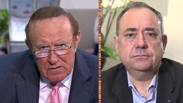 Andrew Neil and Alex Salmond
