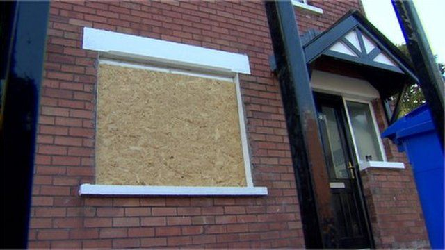No-one was at home when this house was targeted in Hesketh Park