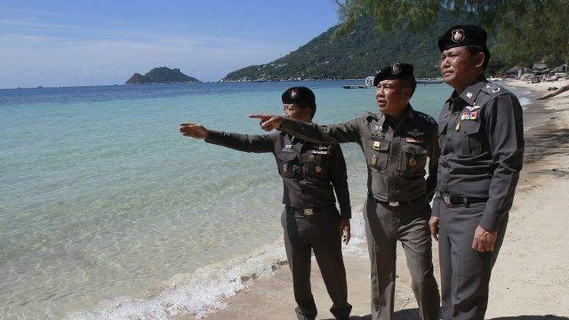 Police on Koh Tao beach