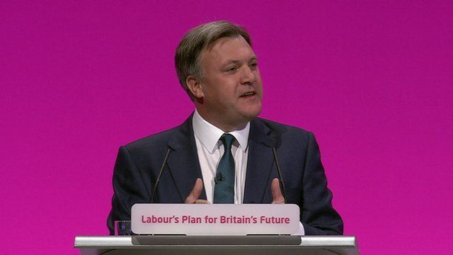 Ed Balls at Labour conference