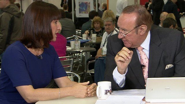 Rachael Reeves and Andrew Neil