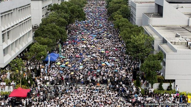 University students from across Hong Kong stage a week-long boycott of classes