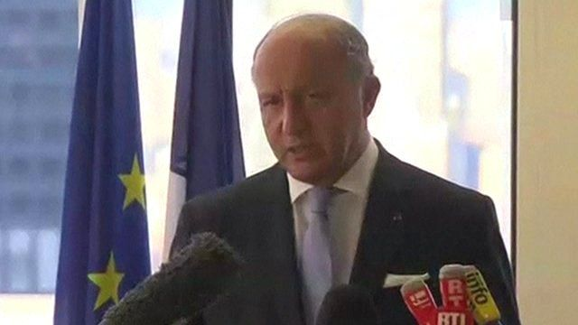 French Foreign Minister Laurent Fabius at the UN