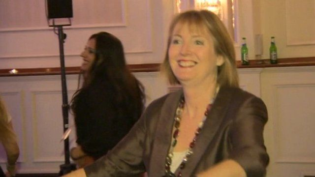 Harriet Harman dancing at 2013 conference