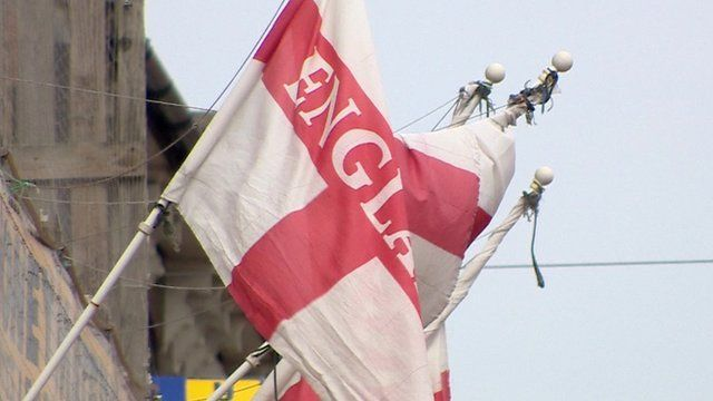 England flag in Thurrock