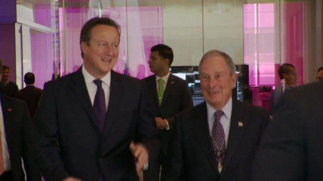 David Cameron and Mayor Bloomberg