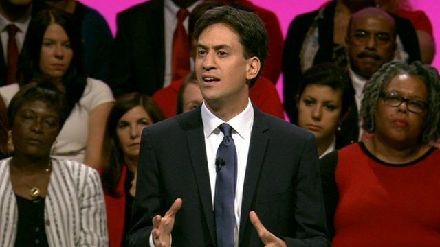 Ed Miliband at Labour conference