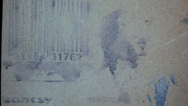 Banksy's leopard breaking out of a barcode