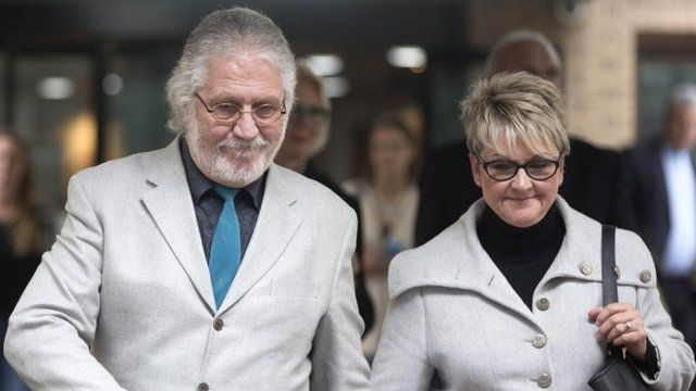 Former Radio 1 DJ, Dave Lee Travis, real name David Patrick Griffin, and his wife Marianne Griffin leave Southwark Crown Court