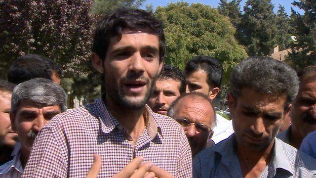 Refugees arriving in Turkey