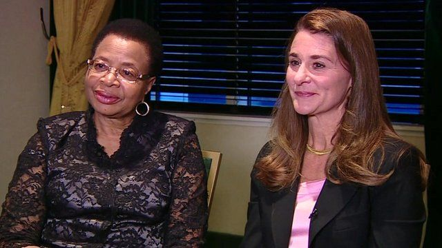 Graca Machel and Melinda Gates speak to Laura Trevelyan