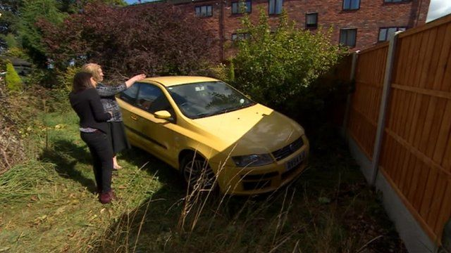 Wendy Collins and her car