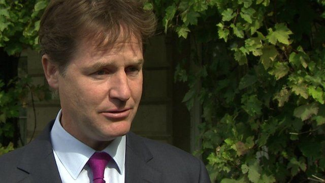 The Deputy Prime Minister Nick Clegg