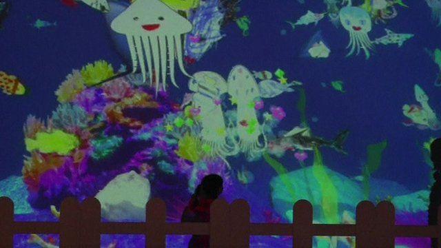 Tokyo's virtual aquarium
