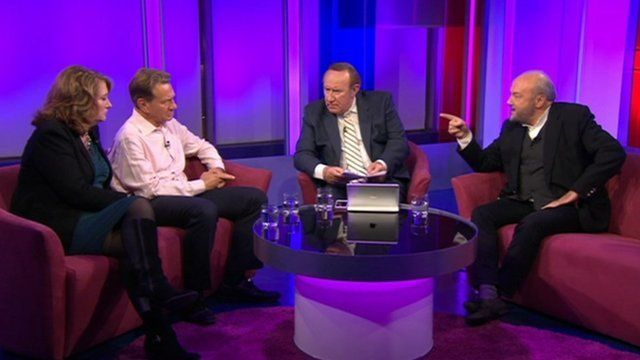 Jacqui Smith, Michael Portillo, Andrew Neil and George Galloway