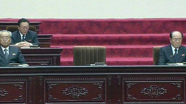 Kim Jong-un's empty chair