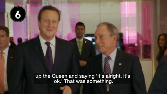 David Cameron talking about the Queen