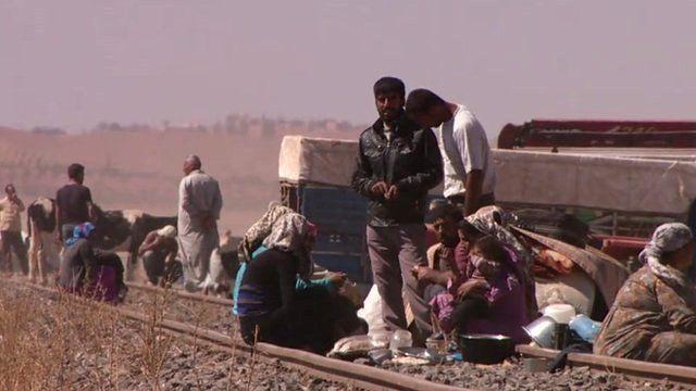 People on railway track