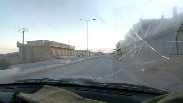 The view through a car windscreen