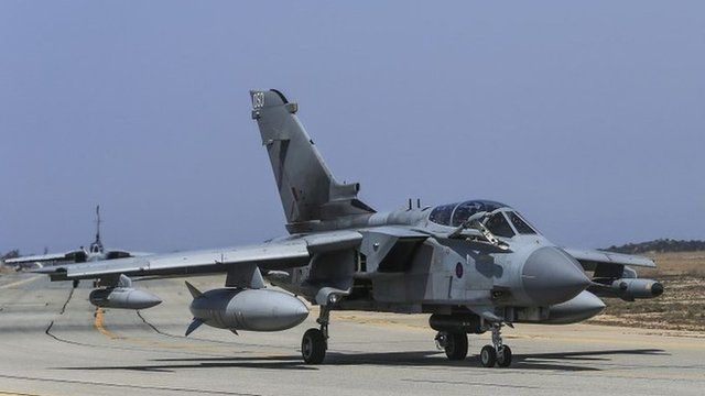 Two RAF Tornados pictured in Cyprus in August