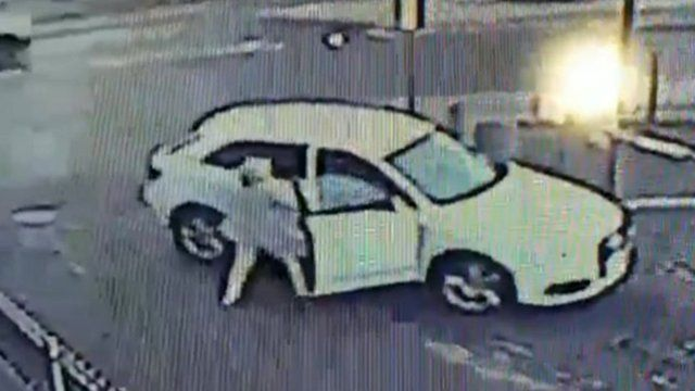 CCTV of the alleged attempted car theft