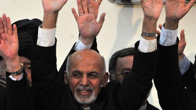 Afghan president-elect Ashraf Ghani