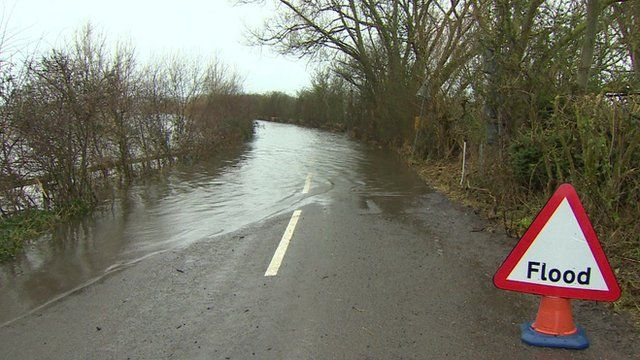 Flooded A372, Somerset
