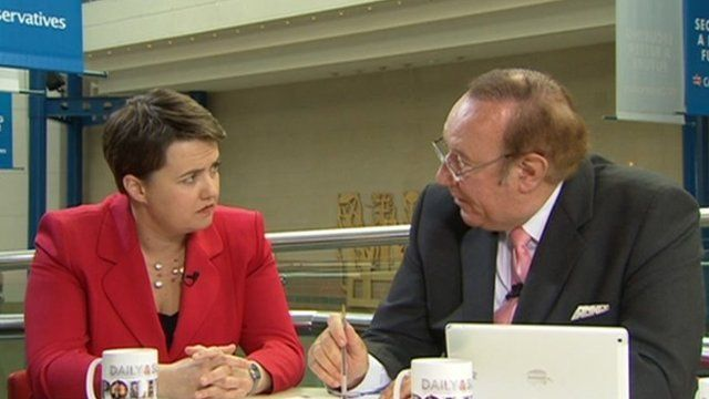 Ruth Davidson and Andrew Neil
