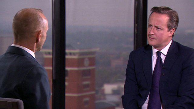 Evan Davies and David Cameron